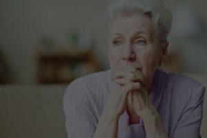 Elderly woman worried about housing