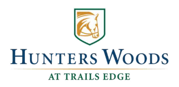 Hunter Woods at Trail Edge logo.